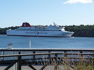 Destination Gotland - MS Visby at Nynäshamn, Sweden.