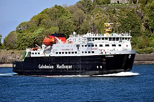 MV Clansman - Image: MV Clansman Approaching Oban, 9 May 2017