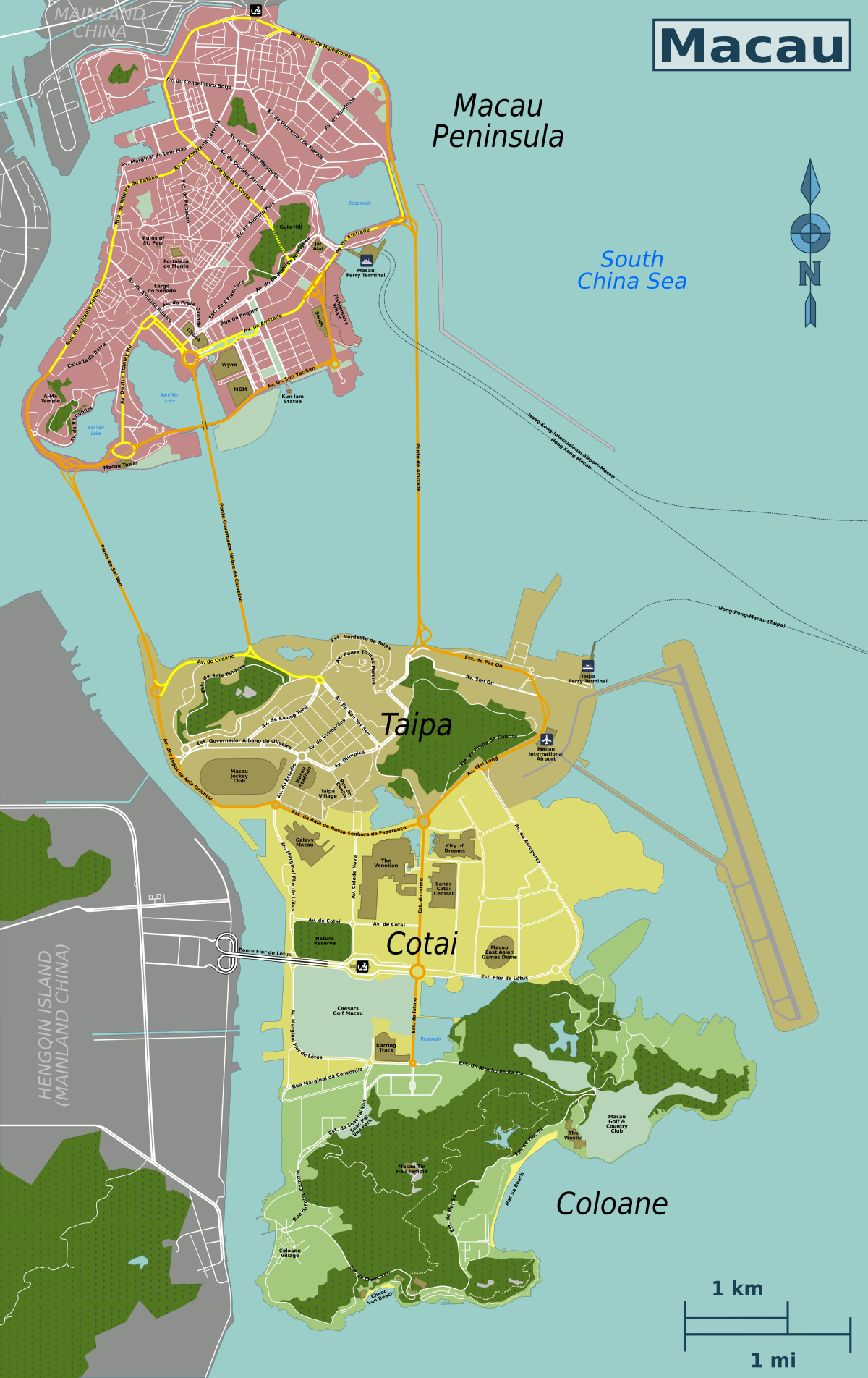 Macau Travel Guide At Wikivoyage - Where is macau in the world