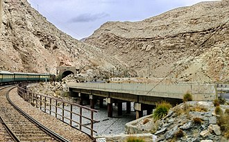 Bolan Pass - A railway track traverses the pass