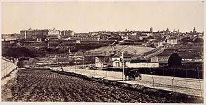 Charles Clifford (photographer) - Madrid visto desde el oeste, Charles Clifford, c. 1860.