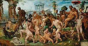 Romanism (painting) - Triumphal procession of Bacchus by Maerten van Heemskerck