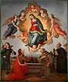 Maestro della conversazione di s. spirito, forse giovanni cianfanini, madonna della cintola, 1510 (calenzano, s.m. a carraia) 01.jpg
