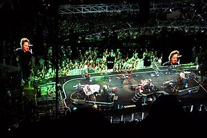 """Radio Nowhere - """"Radio Nowhere"""" opens the Magic Tour at the Hartford Civic Center. October 2, 2007.  The green lighting scheme became associated with the song."""