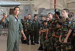 Major Aristotle Rabanal shows A-10 to CAP cadets from Louisiana and Texas.JPG