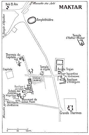 Maktar - Plan of Maktar