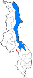 Location of Dedza in Malawi