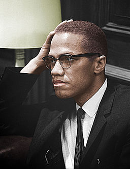 Malcolm-x colorized photo