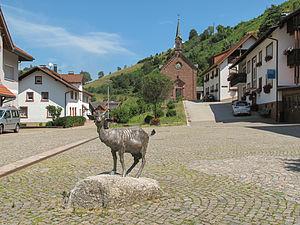 Zell im Wiesental - Image: Mambach, geit met Maria Frieden Kapelle foto 1 2013 07 26 12.27