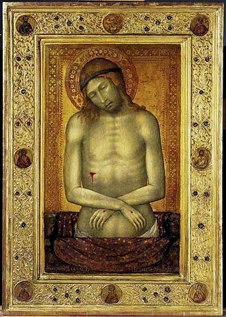 Naddo Ceccarelli - Image: Man of sorrows 1347. Лихтенштейн, музей