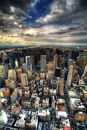Manhattan as seen from the North-facing side o...