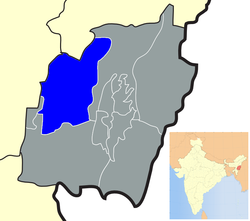 Location of Tamenglong district in Manipur