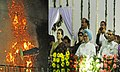 Manmohan Singh and the Chairperson, National Advisory Council, Smt. Sonia Gandhi, witnessing the Dussehra celebrations, at Ramleela Maidan on the auspicious occasion of Vijay Dashmi, in New Delhi on October 13, 2013.jpg