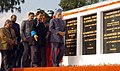 Manmohan Singh unveiled the foundation stone of Augmentation of Water Supply Project for Naharlagun-Nirjuli and Itanagar, Arunachal Civil Secretary Building, Pare Hydro Electric Project.jpg