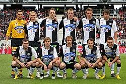 Mannschaft des SK Sturm Graz beim Cupfinale 2010