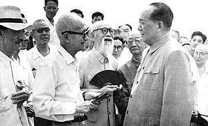 Zhang Shizhao - Mao Zedong and Zhang in 1963