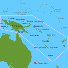 Geographic definition of melanesia surrounded by a pink line for Ocean definition geography