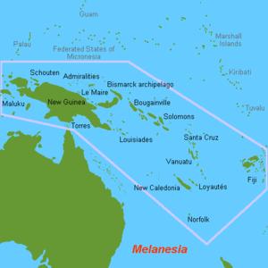 map of Melanesia