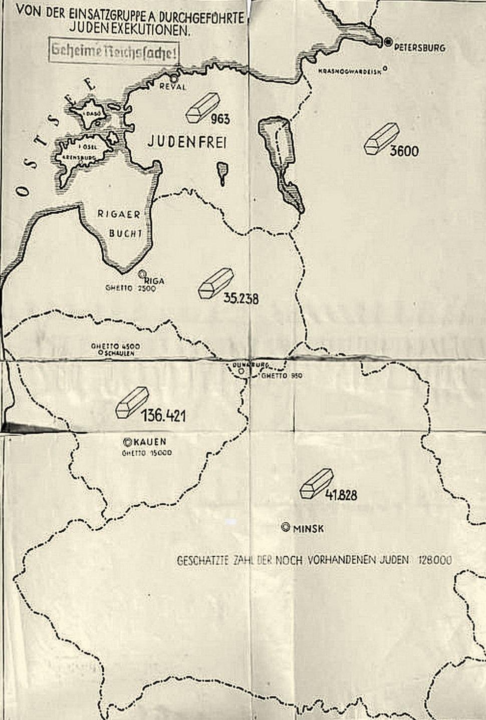 Map Stahlecker's Report 1941-1943