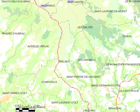 Map commune FR insee code 48192.png
