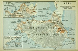 Aden - Map of Aden peninsula, ca. 1914
