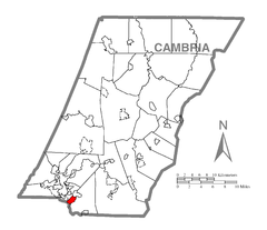 Map of Belmont, Cambria County, Pennsylvania Highlighted.png