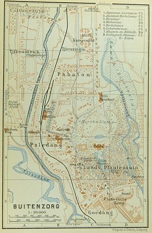Map of Buitenzorg (Baedeker, 1914)