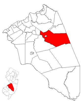 Pemberton Township, New Jersey - Image: Map of Burlington County highlighting Pemberton Township