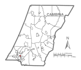 Map of Daisytown, Cambria County, Pennsylvania Highlighted.png