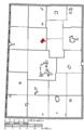 Map of Darke County Ohio Highlighting Ansonia Village.png