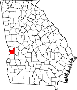 map of Georgia highlighting Chattahoochee County