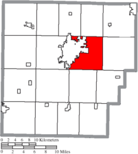 Location of Marion Township in Hancock County.
