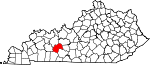 State map highlighting Butler County