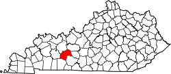map of Kentucky highlighting Butler County