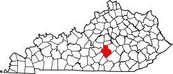 map of Kentucky highlighting Casey County