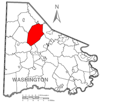 Map of Mount Pleasant Township, Washington County, Pennsylvania Highlighted.png