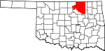 State map highlighting Osage County