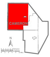 Map of Cameron County, Pennsylvania highlighting Shippen Township