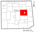 Map of Tioga County Pennsylvania Highlighting Richmond Township.PNG