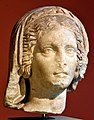 Marble head of a priestess of Athena, 117-138 CE. From Pergamon, Turkey. Pergamon Museum in Berlin, Germany.jpg