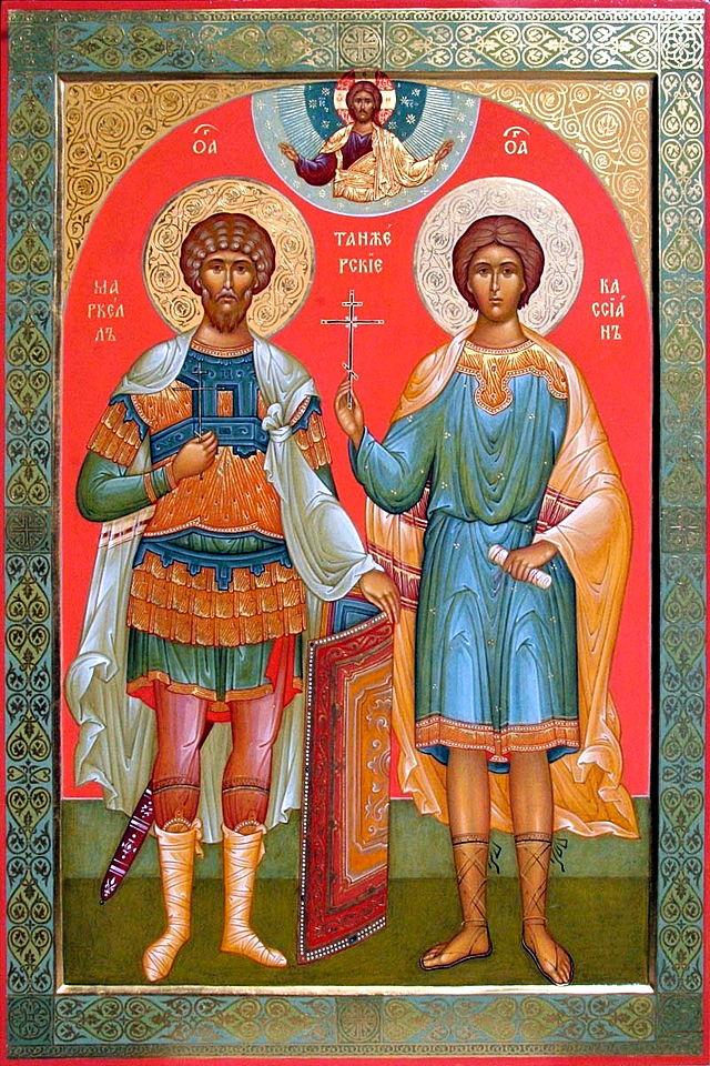 Ortodokst ikon av de hellige Marcellus og Kassian av Tanger