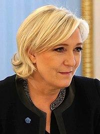 Marine Le Pen à la visite de Vladimir Poutine.