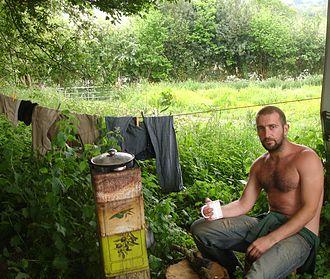 Mark Boyle (Moneyless Man) - Image: Mark Boyle(tea)Cropped