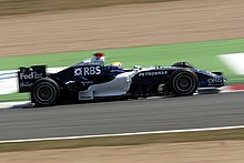 Webber competing at the 2006 French Grand Prix in a Williams car
