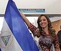 Marline Barberena with Nicaraguan flag.jpg