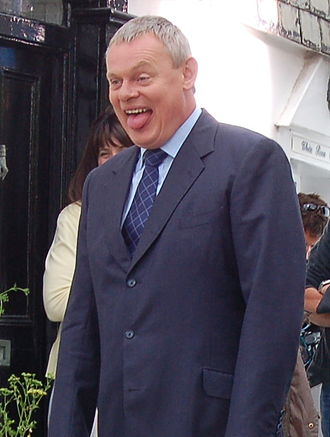 Martin Clunes - Clunes on location for Doc Martin in 2007