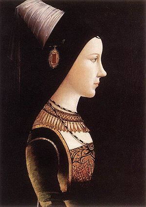 Frederick of Naples - Portrait of Marie de Bourgogne around 1500 by Michael Pacher