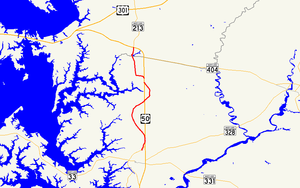 Maryland Route 662 - Image: Maryland Route 662 map