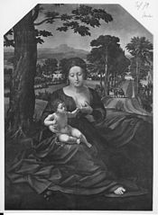Madonna and Child in a Landscape