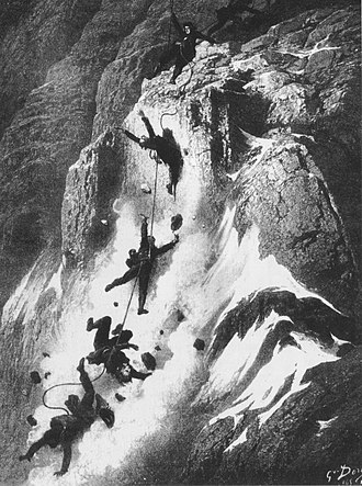 Lord Francis Douglas - The Matterhorn Disaster, depicted by Gustave Doré